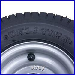 13x5.00-6 grass tyre on wheel rim lawnmower- quad ATV trailer- Deli set of 2