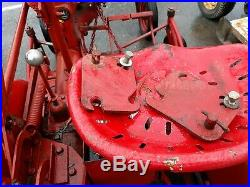 1948 Farmall Cub tractor with 60 mower deck vintage antique IH used gas tractor