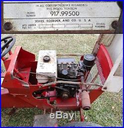 1964 Sears Custom 600 Lawn Garden Tractor with Mower Deck