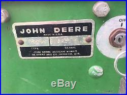 1967 Round Fender John Deere 112 Garden Tractor Integral Hitch 31 Tiller 110