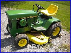 1970 john deere H-3 garden tractor with lights and 48 deck
