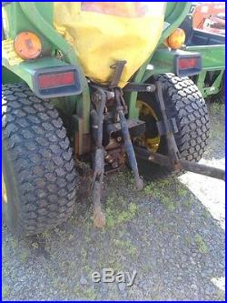 1994 John Deere 855 24hp 4wd tractor with 70A front loader
