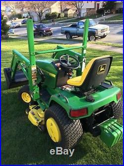2000 John Deere 445 Garden Tractor With48 Mower Deck & 40 Front End Loader
