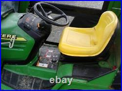 2001 John Deere 345 20hp lawn tractor with 48 front blade and soft cab