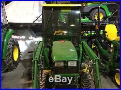 2004 JOHN DEERE 2210 Tractor Curtis Cab Heater 210 Loader 62C Deck # 121485