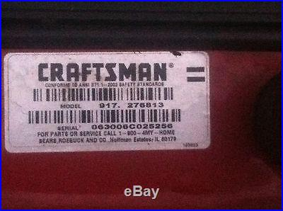 2006 CRAFTSMAN LT3000 TRACTOR RIDE MOWER W/ 20 HP BRIGGS, W/ 42 SNOW BLOWER+CAB