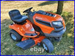 2012 Husvarna YTH23V42 riding lawn mower 42 deck 23 hp Briggs used 360 hours
