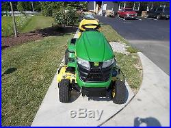 2015 John Deere Demo X324 Lawn Tractor With 48 Mower Deck Na# 122365