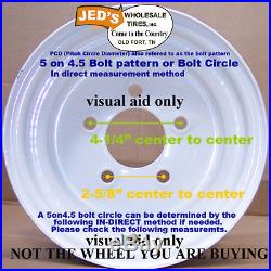 22x11.00-10 TIRE RIM WHEEL R-1 lug for Grasshopper Zero Turn Riding Mower LEFT