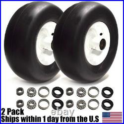 2PK Front Solid Tire Assembly Puncture Proof No Flat 13x5x6 For eXmark Lazer Z
