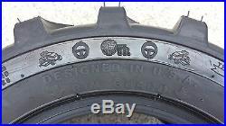 2 18X8.50-10 4P OTR Garden Master Tires Lug R-4 R4 PAIR Loader Skid 18x8.5-10