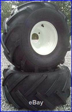 2 20-10-8 Tire Rim Pkg HUSQVARNA CUB MURRAY SCAG 4-LUG