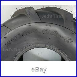 2 20x10.00-8 Tires Zero Turn Riding Lawn Mower Golf Car Go Kart P328 R-1 Lug