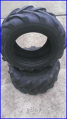2 23X9.50-12 Deestone 4P Super Lug Tires AG DS5245 23x10.50-12 23x9.5-12