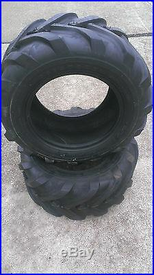 2 23/10.50-12 Deestone D405 6P Super Lug Tires AG DS5246 23/10.5-12 23/10.5x12