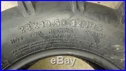 2 23x10.50-12 4P OTR Lawn Trac Tires Lug R-1 R1 PAIR AG 23x10.5-12