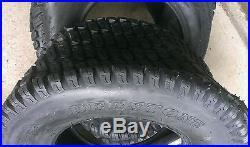 2 24x12-12 6 Ply HEAVY DUTY Deestone D838 Turf Master style Lawn Mower Tires