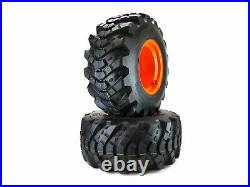 (2) 26x12.00-12 Aggressive Rear Wheel Assemblies Fits BX Series Kubota