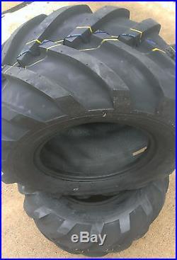 2 26x12.00-12 Deestone 8P Super Lug Tires PAIR AG DS5324 26X12-12 26/12-12