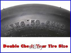 (2) Hustler Flat Free Tire Assemblies 13x6.50-6 fits X One Super Z 604898 789537