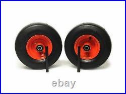 (2) Kubota Pneumatic Wheel Assemblies 15x6.00-6 Fits ZD321, ZD323, ZD326, ZD331