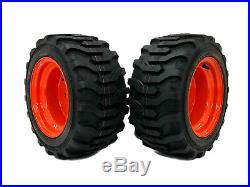 (2) R4 Front Wheel Assemblies 18x8.50-10 Fits Kubota BX2350D BX2360 BX2370