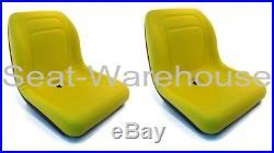 (2) Yellow HIGH BACK Seats John Deere Gator Gas Diesel 4x2 4x4 HPX TH 6x4 #AIY2