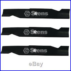 3 Blades 340 222 for 48 Sears Craftsman Husqvarna Mower 180054 532180054