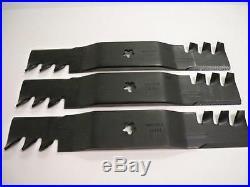 3 HD Mulching Blades For Craftsman Poulan Husqvarna 187254, 187255, or 187256