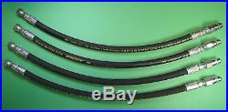 4 PREMIUM HOSES FOR JOHN DEERE 54 PLOW SNOW BLADE LIFT ANGLE With QUICK COUPLERS