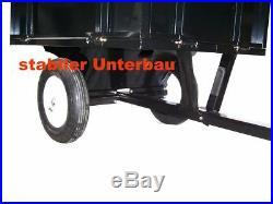 55336 Lawn Mower Trailer Garden Tractor Transporting Tilt 300kg Capacity
