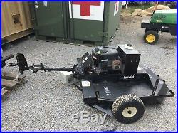 Agri Fab 42 Inch Deck Pull Behind Rough Cut Lawn Mower Electric Start VIDEO