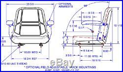 Black High Back Seat Kubota Zd 21,25,28 Zero Turn Mowers, Gravely, Snapper, Ztr #hy