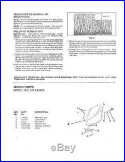CRAFTSMAN 42 MOWER DECK MULCH PLATE KIT 24142 198383 & FITS POULAN HUSQVARNA