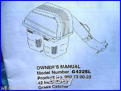 CRAFTSMAN 42 RIDING LAWN MOWER TRACTOR 2-BIN GRASS CATCHER BAGGER SWEEPER
