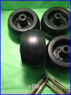 CRAFTSMAN RIDING LAWN MOWER DECK WHEELS & BOLTS 4 PACK # 133957 & 193406