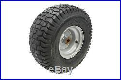 Carlisle 15x6.00-6 Turf Saver 2-Ply Tire Gray Wheel 3/4ID t15x600-6Car-WH34-G