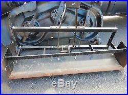 Craftsman 48 riding mower deck fits husqvarna AND Husqvarna grader box scraper