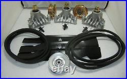 Craftsman Sears 44 GT6000 Mower Deck Rebuild Kit Spindles Blades Pulleys Belt