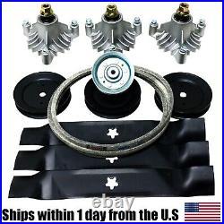 Deck Rebuild Kit Fits Craftsman 46 AYP Sears Spindles Belt Blades Pulleys