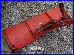 Economy Power King 1612 tractor 48 mowing deck snow dozer blade plow chain NICE