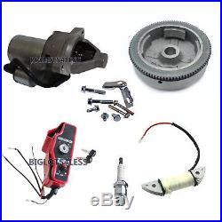Electric Start Kit Flywheel Starter Motor Ignition Honda Gx340 11hp Gx390 13hp