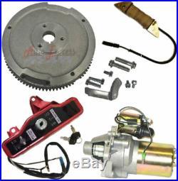 Electric Start Kit Starter Motor Flywheel Switch Honda Gx240 8hp Gx270 9hp New