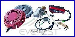 Electric Starter Motor Kit For Gx240 Gx270 Honda Flywheel Ignition Box Recoil