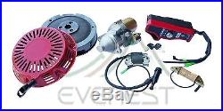 Electric Starter Motor Kit Honda GX340 GX390 Flywheel Coil Ignition Box Recoil
