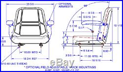 Gray High Back Seat Bunton, Bobcat, Dixie, Snapper, Toro, Exmark Zero Turn Mower #ln