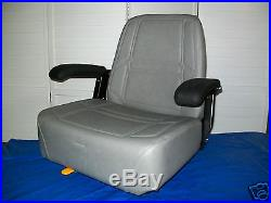 Gray High Back Seat Exmark Bunton, Bobcat, Dixie, Snapper, Toro, Zero Turn Mower #je