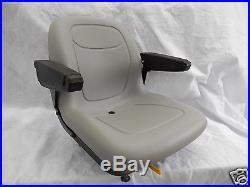 Gray Seat With Arm Rests Fits Hustler Sport, Fastrak, Super Duty Fastrak, Ztr #jb