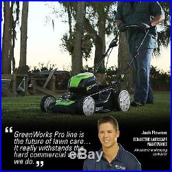 GreenWorks GLM801602 80V 21-Inch Cordless Lawn Mower With 4.0AH Battery