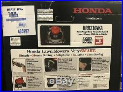 HONDA HRR216VKA Honda 21 in. 3-in-1 / NIB/ Gas Walk Behind Self Propelled Mower